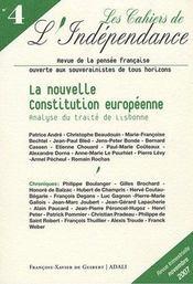 Les cahiers de l'independance, n 4, novembre 2007 - Intérieur - Format classique
