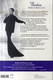 Barbara ; parfums de femme en noir - 4ème de couverture - Format classique