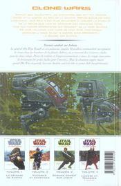 Star Wars - clone wars t.3 ; dernier combat sur Jabim - 4ème de couverture - Format classique