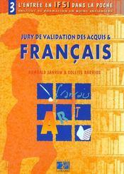 Jury de validation des acquis et francais tome 3 - Intérieur - Format classique
