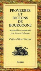 Proverbes et dictons de Bourgogne - Couverture - Format classique