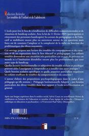 Vers une pédagogie institutionnelle adaptée - 4ème de couverture - Format classique