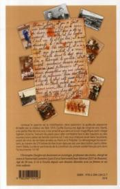 Si ça vient à durer tout l'été... lettres de Cyrille Ducruy, soldat écochois dans la tourmente 14-18 - 4ème de couverture - Format classique