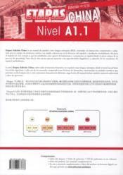 Etapas ; edición china ; nivel A1.1 ; libro del alumno - 4ème de couverture - Format classique