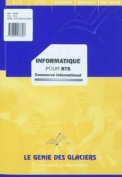 Informatique pour BTS commerce international - Couverture - Format classique