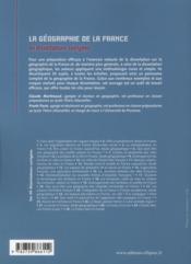 La Geographie De La France En Dissertations Corrigees 30 Sujets Complets Avec Croquis - 4ème de couverture - Format classique