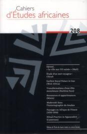 Cahiers d'études africaines N.207 - Couverture - Format classique