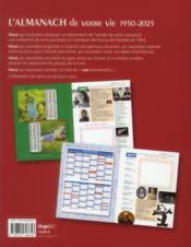 L'almanach de votre vie de 1950 à 2025 - 4ème de couverture - Format classique