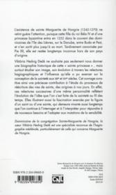 La Legende De Sainte Marguerite De Hongrie Et L'Hagiographie Dominicaine - 4ème de couverture - Format classique