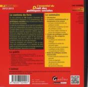 L'essentiel du droit des politiques sociales (7e édition) - Couverture - Format classique