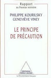 Le principe de precaution - Intérieur - Format classique