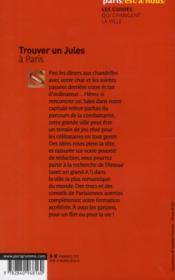 Trouver un Jules à Paris (édition 2013) - 4ème de couverture - Format classique