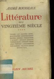 Litterature Du Vingtieme Siecle. Tome 4. - Couverture - Format classique