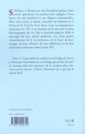Lettres d'une amitie - correspondance 1687-1698 - 4ème de couverture - Format classique