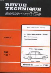 Revue Technique Automobile - N°259 - Couverture - Format classique