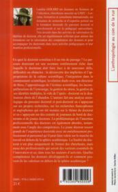 Le doctorat : un rite de passage ; analyse du parcours doctoral et post doctoral - 4ème de couverture - Format classique