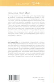 Individu, personne et parente en europe - 4ème de couverture - Format classique