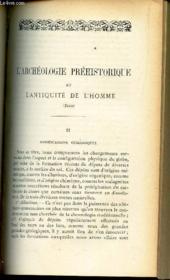 L'ARCHEOLOGIE PREHISTORIQUE ET L'ANTIQUITE DE L'HOMME (suite) - II : Modifications géologiques / LES CHRETIENS SOUS CLAUDE LE GOTHIQUE (268-270) / THEORIQUE DU LIBRE ARBITRE (suite et fin) . - Couverture - Format classique