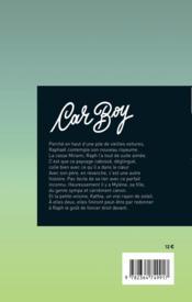 Car boy - 4ème de couverture - Format classique