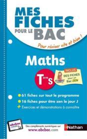 MES FICHES ABC DU BAC T.8 ; mathématiques ; terminale S (édition 2018) - Couverture - Format classique