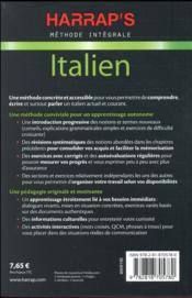 Méthode intégrale ; italien - 4ème de couverture - Format classique