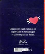 Lapin bisou - 4ème de couverture - Format classique