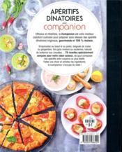 Apéritifs dînatoires au companion - 4ème de couverture - Format classique