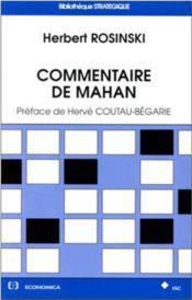 Commentaire De Mahan - Couverture - Format classique