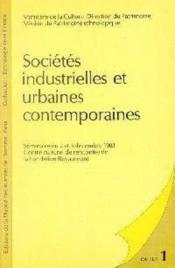 Societes Industrielles Et Urbaines Contemporaines. - Couverture - Format classique