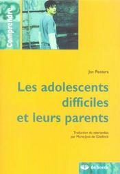Les adolescents difficiels et leurs parents - Intérieur - Format classique