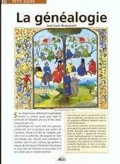 Petit Guide T.53 ; La Généalogie - Intérieur - Format classique