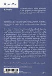 Jean Anouilh ; les jeux d'un pessimiste - 4ème de couverture - Format classique