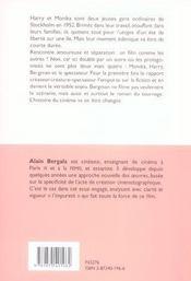 Monika de ingmar bergman - cote films n 1 - 4ème de couverture - Format classique