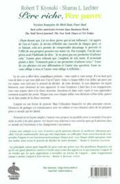 Pere Riche Pere Pauvre Francai - 4ème de couverture - Format classique