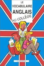 Le vocabulaire anglais au collège - Intérieur - Format classique