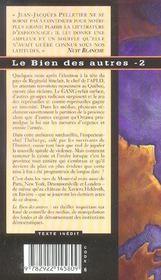 Le bien des autres t.2 - 4ème de couverture - Format classique