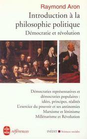 Introduction a la philosophie politique - democratie et revolution- inedit - Intérieur - Format classique