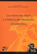 Les partis politiques à l'épreuve des procédures délibératives - Couverture - Format classique