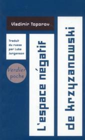 L'espace négatif de Krzyzanowski - Couverture - Format classique