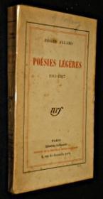 Poésies légères 1911-1927 - Couverture - Format classique