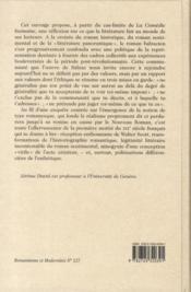 Balzac, une éthique de la description - 4ème de couverture - Format classique
