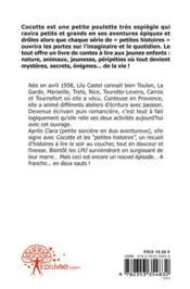 Cocotte Et Les Petites Histoires - 4ème de couverture - Format classique