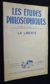Les études philosophiques. Quatorzième année, n°1. La liberté - Couverture - Format classique