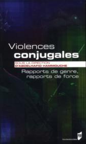 Violences conjugales ; rapports de genre, rapports de force - Couverture - Format classique