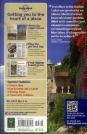 The italian lakes (2e édition) - 4ème de couverture - Format classique