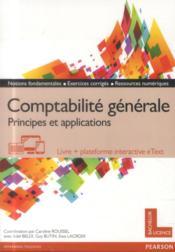 Comptabilité générale ; principes et applications - Couverture - Format classique