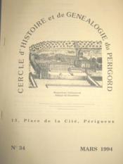 Cercle d'Histoire et de Généalogie du Périgord. Bulletin n° 34. - Couverture - Format classique