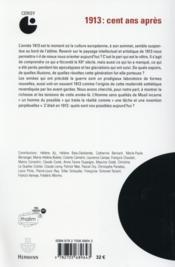1913, cent ans apres - enchantements et desenchantements - 4ème de couverture - Format classique