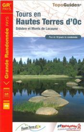 Sidobre Monts de Lacaune ; Haute Terre d'Oc : GR pays (édition 2015) - Couverture - Format classique