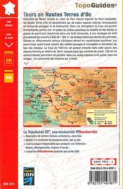 Sidobre Monts de Lacaune ; Haute Terre d'Oc : GR pays (édition 2015) - 4ème de couverture - Format classique